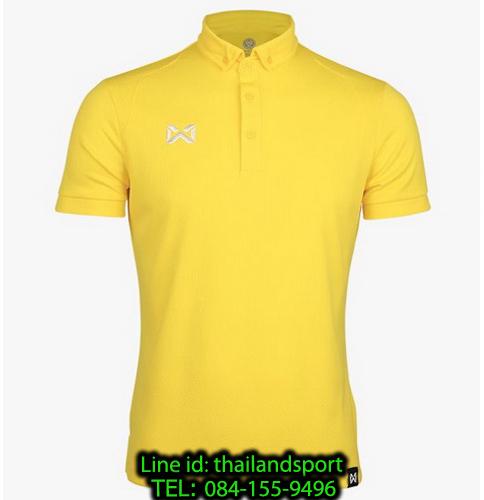 เสื้อโปโลกีฬา polo วอริกซ์ warrix รุ่น wa-3324 (สีเหลืองอ่อน y2)