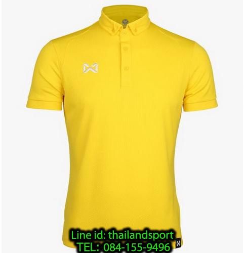 เสื้อโปโลกีฬา polo วอริกซ์ warrix รุ่น wa-3324 (สีเหลืองขาว yw)
