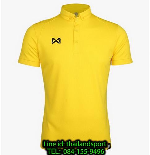 เสื้อโปโลกีฬา polo วอริกซ์ warrix รุ่น wa-3324 (สีเหลือง yy)