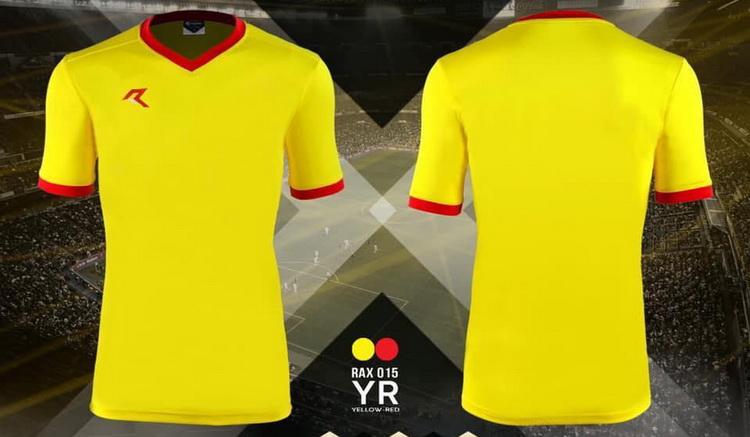 เสื้อกีฬา เรียล real รุ่น rax-015 (สีเหลือง yr)