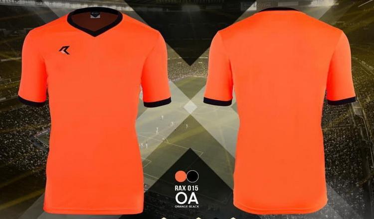 เสื้อกีฬา เรียล real รุ่น rax-015 (สีส้มสะท้อน oa)