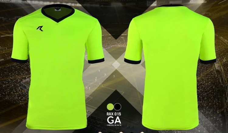 เสื้อกีฬา เรียล real รุ่น rax-015 (สีเขียวสะท้อน ga)