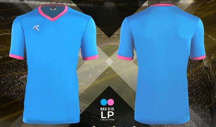 เสื้อกีฬา เรียล real รุ่น rax-015 (สีฟ้า lp)