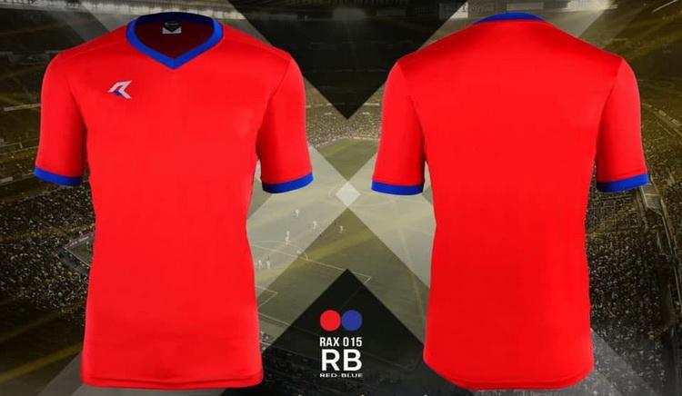 เสื้อกีฬา เรียล real รุ่น rax-015 (สีแดง rb)