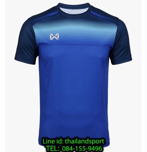 เสื้อกีฬา วอริกซ์ warrix รหัส wa-211fbacl04 (สีน้ำเงิน bb) พิมพ์ลาย