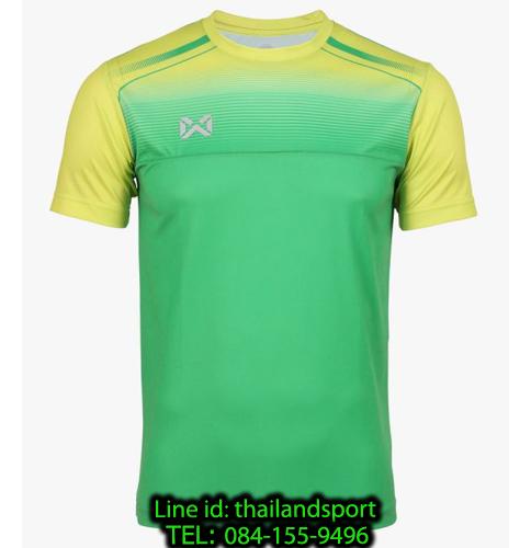 เสื้อกีฬา วอริกซ์ warrix รหัส wa-211fbacl04 (สีเขียว g4) พิมพ์ลาย