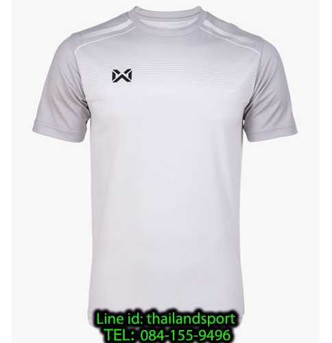 เสื้อกีฬา วอริกซ์ warrix รหัส wa-211fbacl04 (สีขาว ww) พิมพ์ลาย