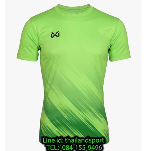 เสื้อกีฬา วอริกซ์ warrix รหัส wa-211fbacl02 (สีเขียวมะนาว g4) พิมพ์ลาย