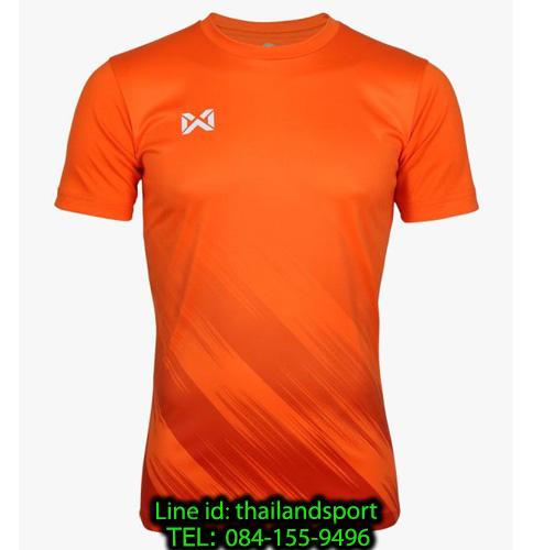 เสื้อกีฬา วอริกซ์ warrix รหัส wa-211fbacl02 (สีส้ม oo) พิมพ์ลาย