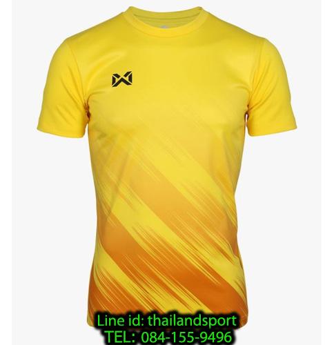 เสื้อกีฬา วอริกซ์ warrix รหัส wa-211fbacl02 (สีเหลือง yy) พิมพ์ลาย