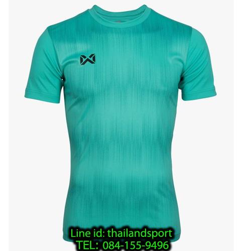 เสื้อกีฬา วอริกซ์ warrix รหัส wa-211fbacl01 (สีเทอควอยซ์ cc) พิมพ์ลาย