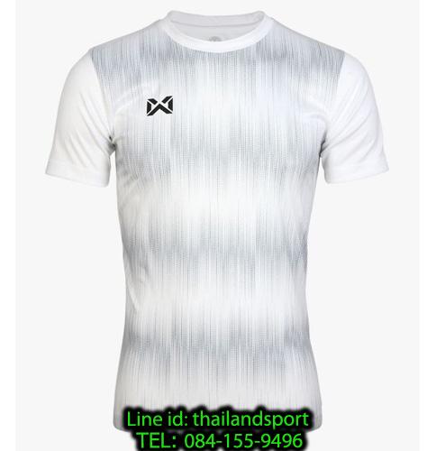 เสื้อกีฬา วอริกซ์ warrix รหัส wa-211fbacl01 (สีขาว ww) พิมพ์ลาย