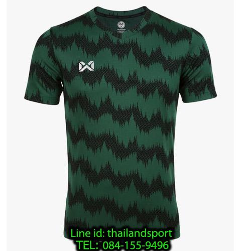 เสื้อกีฬา วอริกซ์ warrix รหัส wa-211fbacl03 (สีเขียว gg) พิมพ์ลาย
