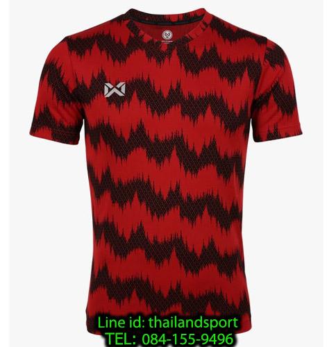เสื้อกีฬา วอริกซ์ warrix รหัส wa-211fbacl03 (สีแดง rr) พิมพ์ลาย