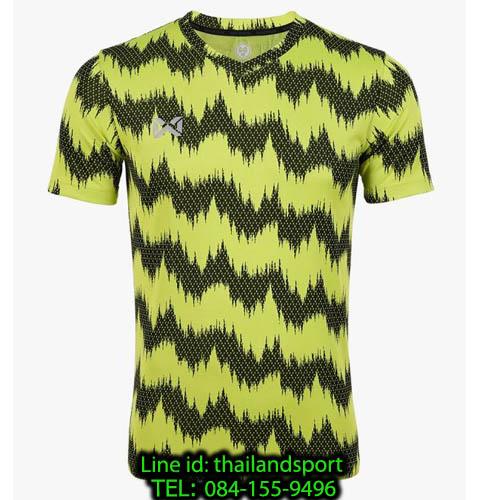 เสื้อกีฬา วอริกซ์ warrix รหัส wa-211fbacl03 (สีเขียวมะนาว g4) พิมพ์ลาย