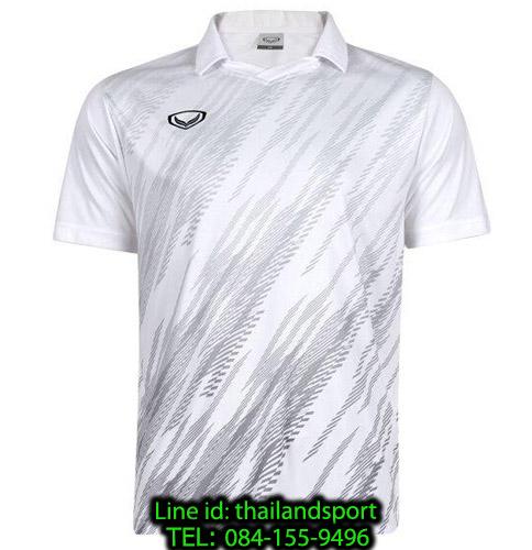 เสื้อกีฬา แกรนด์ สปอร์ต grand sport รุ่น 011-558 (สีขาว) พิมพ์ลาย