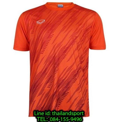 เสื้อกีฬา แกรนด์ สปอร์ต grand sport รุ่น 011-559 (สีส้ม) พิมพ์ลาย