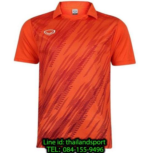 เสื้อกีฬา แกรนด์ สปอร์ต grand sport รุ่น 011-558 (สีส้ม) พิมพ์ลาย