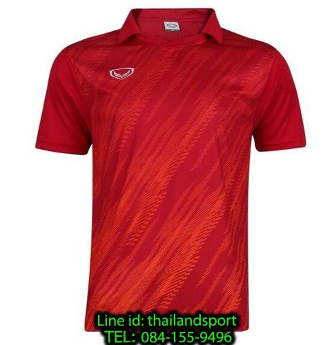 เสื้อกีฬา แกรนด์ สปอร์ต grand sport รุ่น 011-558 (สีแดง) พิมพ์ลาย
