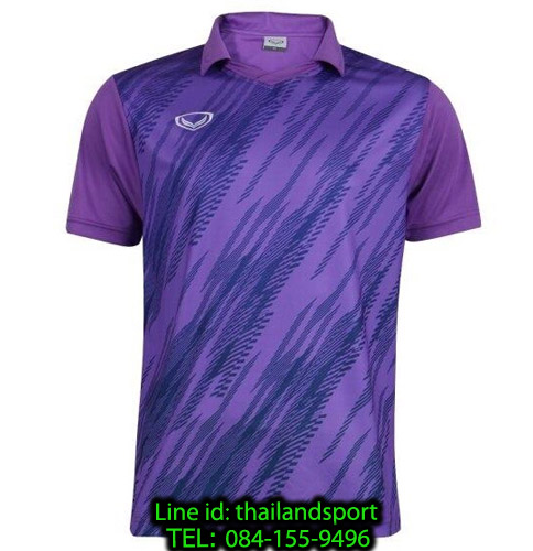 เสื้อกีฬา แกรนด์ สปอร์ต grand sport รุ่น 011-558 (สีม่วง) พิมพ์ลาย