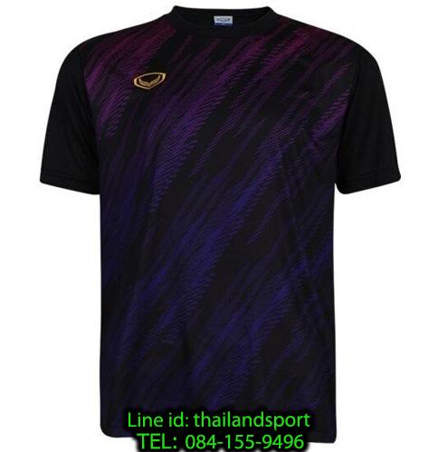 เสื้อกีฬา แกรนด์ สปอร์ต grand sport รุ่น 011-559 (สีดำ) พิมพ์ลาย
