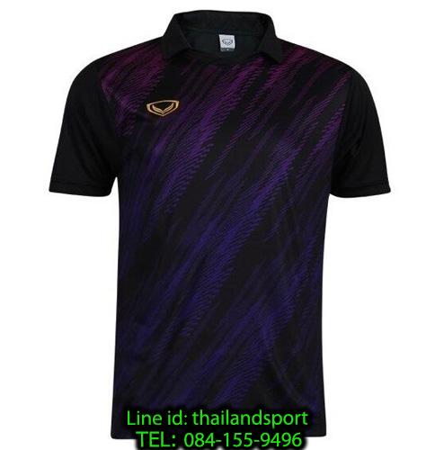 เสื้อกีฬา แกรนด์ สปอร์ต grand sport รุ่น 011-558 (สีดำ) พิมพ์ลาย