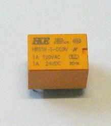 10003 รีเลย์ 9V 6 ขา ของ HKE ขนาดเล็ก 1x1.5x1.2cm