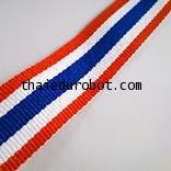 35001 แถบผ้าไนล่อน(รินบิ้น) ลายธงชาติ กว้าง 1.93 cm ราคาต่อ 1 เมตร