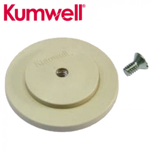 KUMWELL Adhesive Base Dia.63 mm. With Tape Screw 1/4 Inch. Model.LADSB
