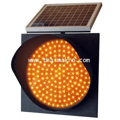 โคมไฟกระพริบพลังงานแสงอาทิตย์พร้อมแบตเตอรี่สำรอง ขนาด 300 mm