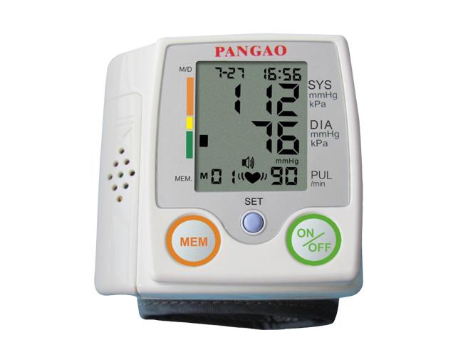 เครื่องวัดความดันแบบรัดข้อมือ พูดไทยได้ รุ่น PG-800A ยี่ห้อ Pangao
