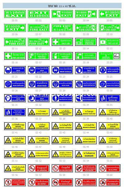 ป้ายความปลอดภัย (Safety Signs)