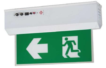 ป้ายไฟฉุกเฉินชนิดสลิมไลน์แบบแขวนลอย  สองหน้า รุ่น Surface ยี่ห้อ Sunny