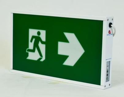 ป้ายกล่องไฟฉุกเฉิน ชนิดหลอด LED รุ่น SLED BOX1(หนึ่งหน้า) และ SLED BOX2(สองหน้า)ยี่ห้อ Safeguard