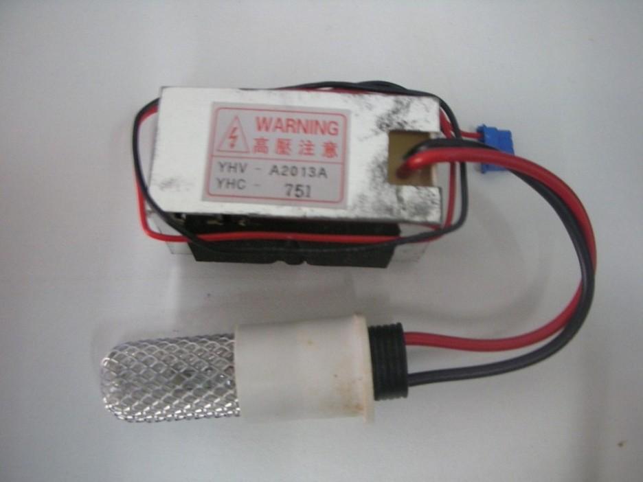 หลอดผลิตก๊าซโอโซน 100 มิลลิกรัม/ชั่วโมง ใช้แรงดัน 12V ขนาด 5 เซนติเมตร