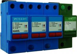 4-pole MOV lightning and surge arrester(Impulse Current=50kA) รุ่น SPC12,5/3+1 ยี่ห้อ Hakel
