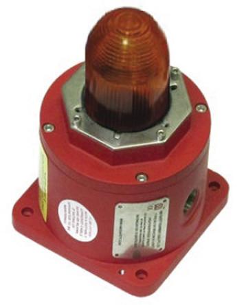 Explosion Proof LED Beacon, Amber, 12-48 Vdc รุ่น BC125YL05DCYNNAR ยี่ห้อ Moflash