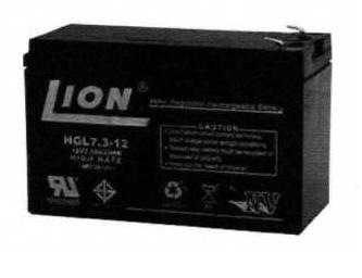แบตเตอรี่แห้งชนิดตะกั่วกรด ขนาด 12V-7.3Ah ยี่ห้อ Lion