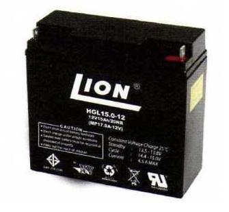 แบตเตอรี่แห้งชนิดตะกั่วกรด ขนาด 12V-15Ah ยี่ห้อ Lion