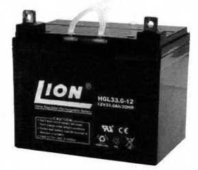 แบตเตอรี่แห้งชนิดตะกั่วกรด ขนาด 12V-33Ah ยี่ห้อ Lion
