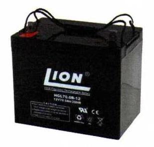 แบตเตอรี่แห้งชนิดตะกั่วกรด ขนาด 12V-70Ah รุ่น มีหูหิ้ว ยี่ห้อ Lion