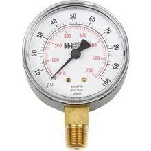Utility Pressure Gauge 0-200 psi.  0-14 Kg/cm2 case size 2-1/2 inch. 1/4 inch NPT, lower รุ่น TL25