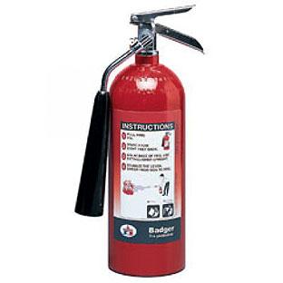 fire extinguisher 5 lbs., UL listed 5B:C. C02 รุ่น B5V-1 ยี่ห้อ BADGER