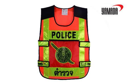 เสื้อจราจรตำรวจ BL-6245U, OR-6245U ยี่ห้อ YAMADA