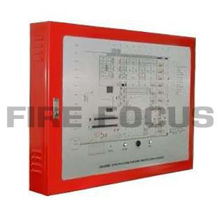 ตู้แผนผังแสดงตำแหน่งเกิดเหตุเพลิงไหม้ ขนาด A4, A3, A2, A1 (Steel Cabinet 1.6mm.)