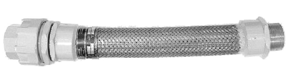ข้อต่ออ่อนกันระเบิด 1/2 - 4 NPT x 50 cm. รุ่น ECUN ยี่ห้อ BOSSTON