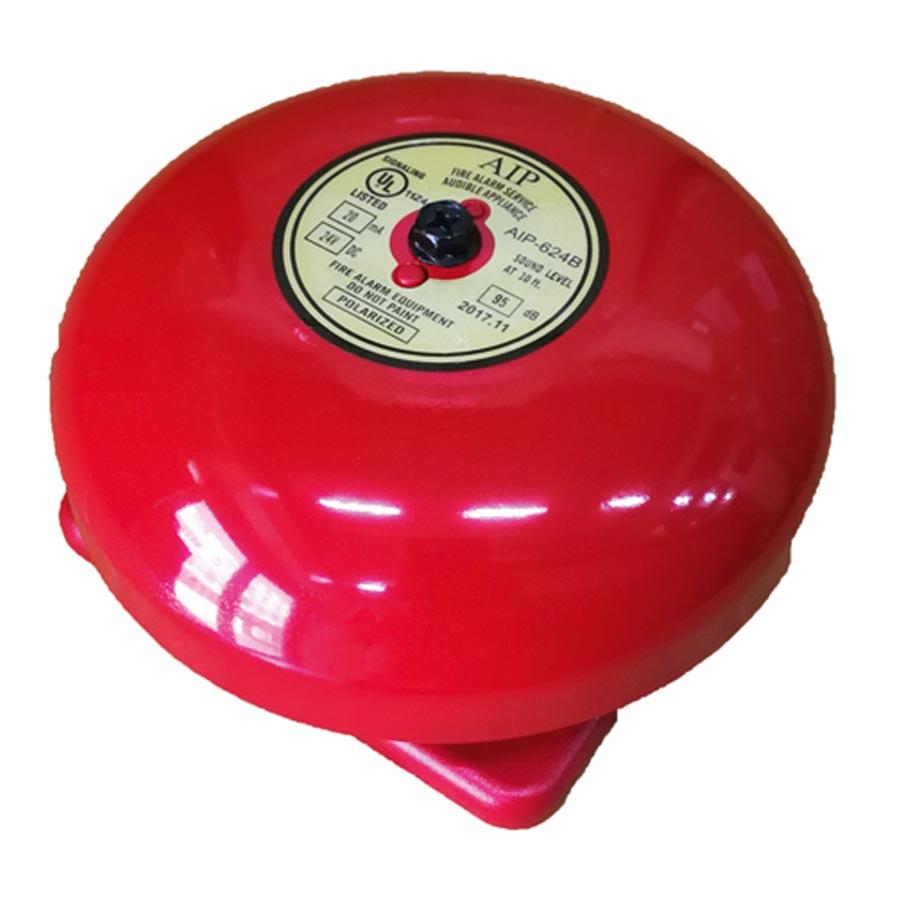 กระดิ่งไฟฟ้า กระดิ่งเตือนภัย Alarm Bell ยี่ห้อ AIP  รุ่น AIP-624B ขนาด 6 นิ้ว 24 VDC ได้มาตรฐาน UL.L