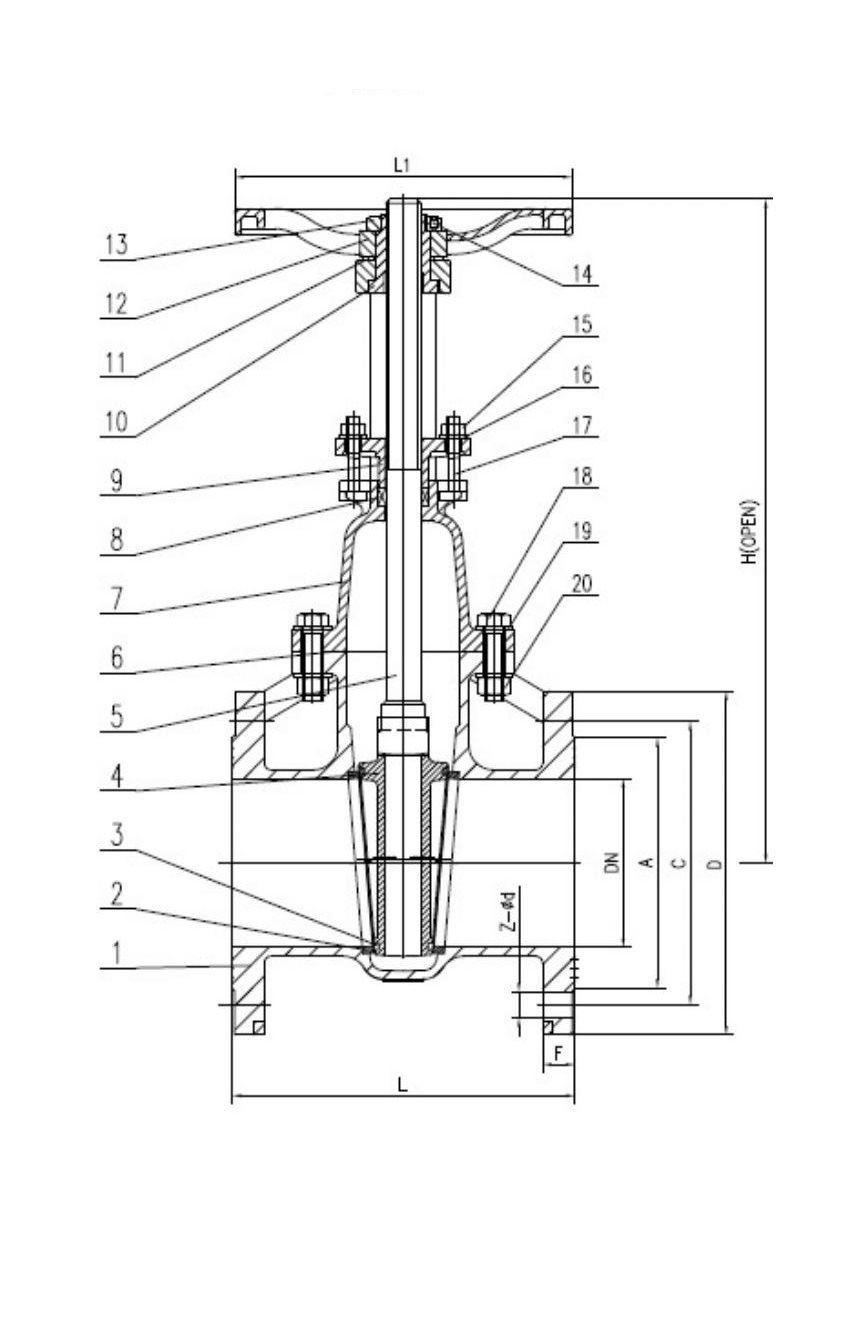 CAST IRON GATE VALVE , RISING STEM รุ่น NPF-620 ยี่ห้อ NIBCO