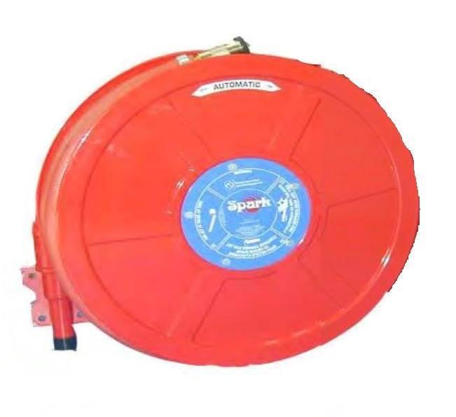 สายส่งน้ำชนิดออโตเมติกโฮสรีล 1นิ้ว x30ม.พร้อมหัวฉีดครบชุด รุ่น HRS-061 ยี่ห้อ Spark