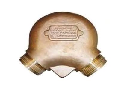 FIRE HYDRANT (ROOF MANIFOLD) 90 Degree Cast Brass รุ่น 5877 ยี่ห้อ POTTER ROEMER